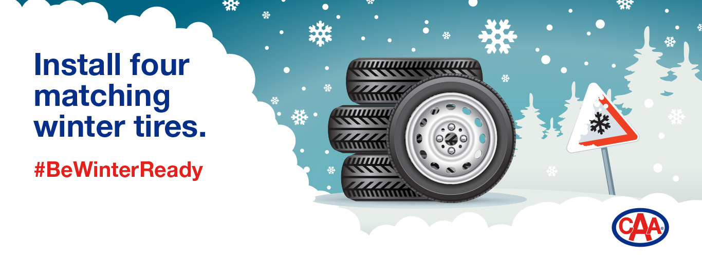 Install four matching winter tires.