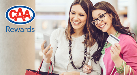 Friends Shopping with CAA Rewards.