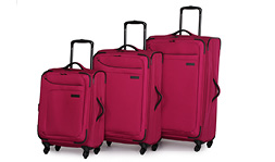 Sample luggage in red