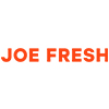 Joe Fresh coporate logo orange letters on white background