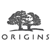 Corporate logo featuring two large trees in black, with what appears to be a human skull rendered in white between them.