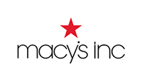 Macy's Inc logo in black letters with red star above