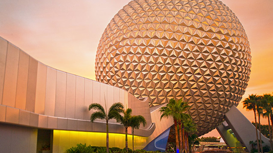 Image showing stylized globe at entrance to Epcot Theme Park.