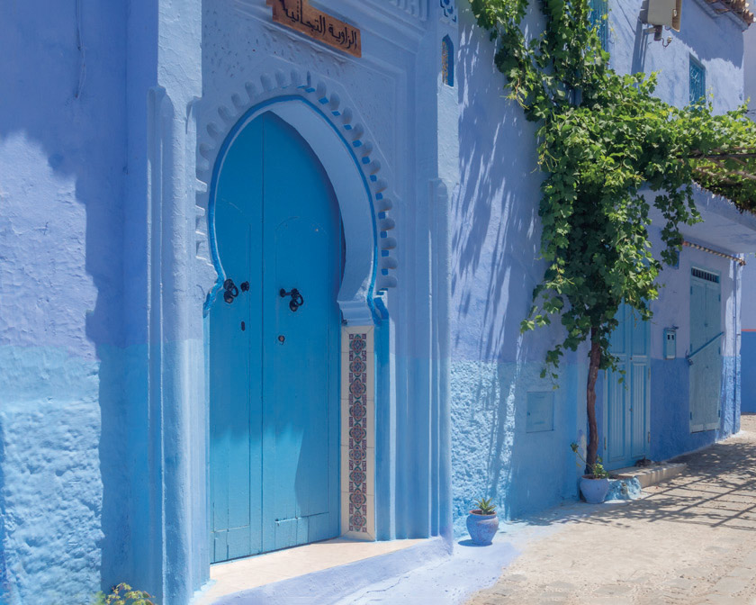 Blue building in Morocco