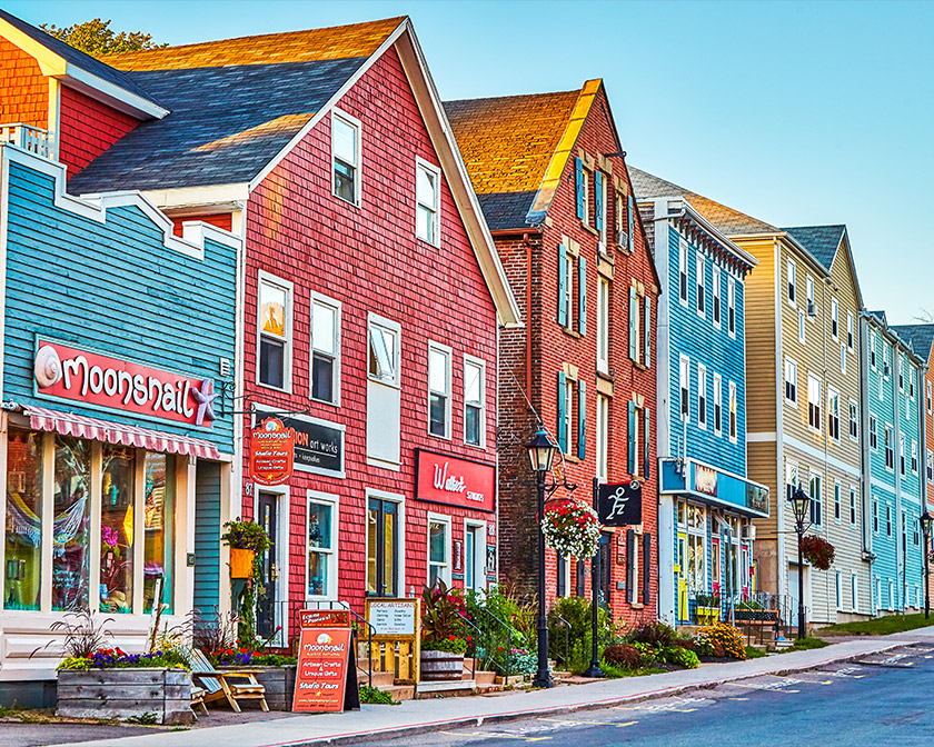 Colourful stores in PEI
