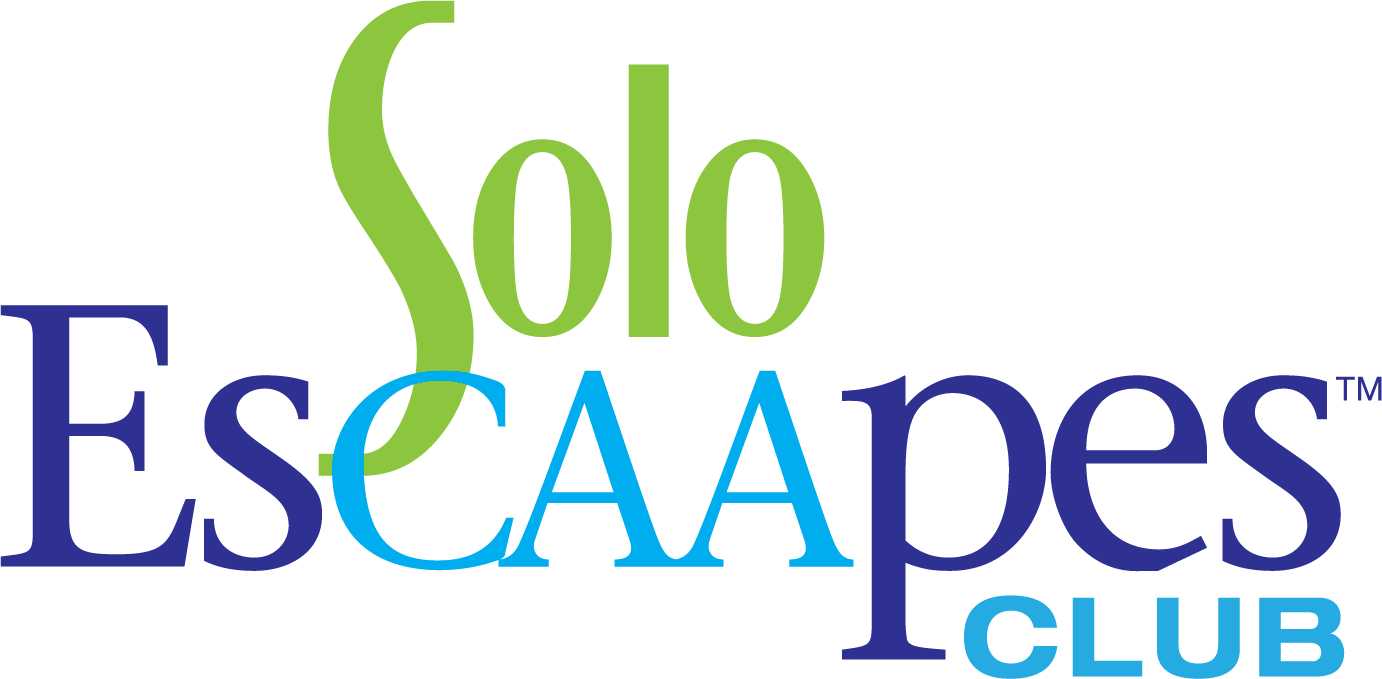 CAA Solo EsCAApes logo in green, light blue and dark blue lettering.