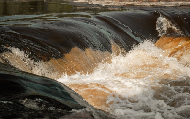 Image showing a closeup of rapids on a river.