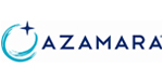 Azamara logo featuring stylized waves and star with navy blue lettering.