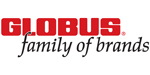 Globus corporate logo featuring red and black lettering.