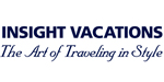 Insight Vacations logo featuring block and italicized lettering in black.