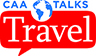 CAA Talks Travel logo.